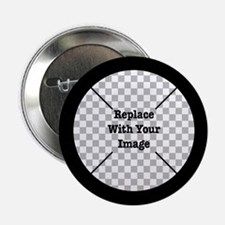 "Customizable Black 2.25"" Button"