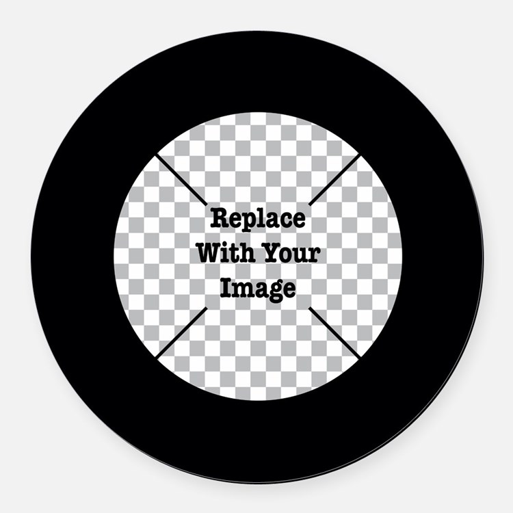 Customizable Black Round Car Magnet
