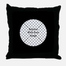Customizable Black Throw Pillow