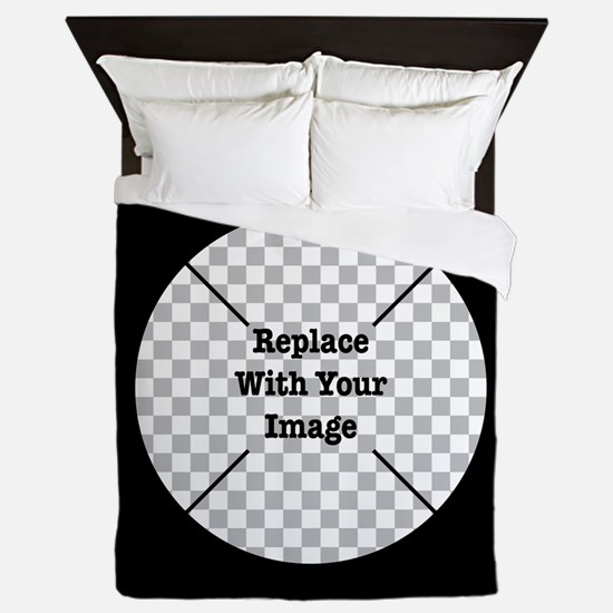 Customizable Black Queen Duvet