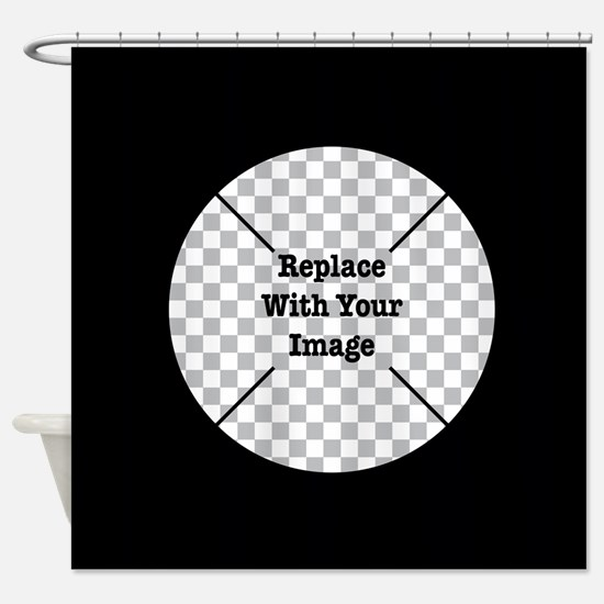 Customizable Black Shower Curtain