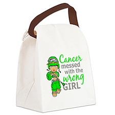Combat Girl Non-Hodgkin's Lymphom Canvas Lunch Bag