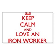 Keep Calm and Love an Iron Worker Decal