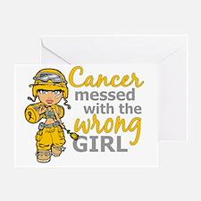 Combat Girl Neuroblastoma Greeting Card