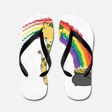 St. Patty Giraffe Flip Flops