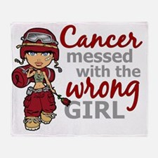 Combat Girl Multiple Myeloma Throw Blanket