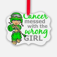Combat Girl General Lymphoma Ornament