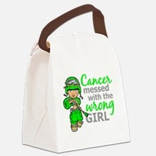 Combat Girl General Lymphoma Canvas Lunch Bag