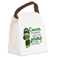 Combat Girl Liver Cancer Canvas Lunch Bag