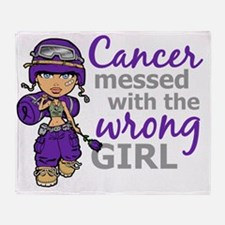 Combat Girl Leiomyosarcoma Throw Blanket