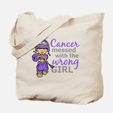 Combat Girl Hodgkin's Lymphoma Tote Bag