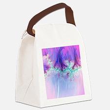 fractal duocolor pink Canvas Lunch Bag
