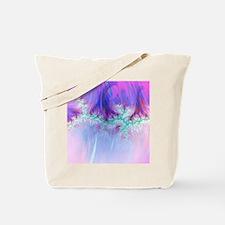 fractal duocolor pink Tote Bag