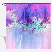 fractal duocolor pink Shower Curtain