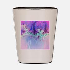 fractal duocolor pink Shot Glass