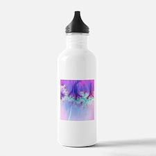 fractal duocolor pink Water Bottle