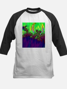 fractal duocolor purple Baseball Jersey