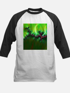 fractal duocolor green Baseball Jersey