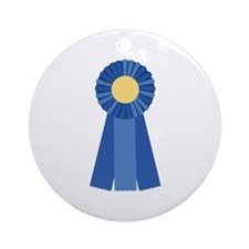 First Place Blue Ribbon Ornament (Round)