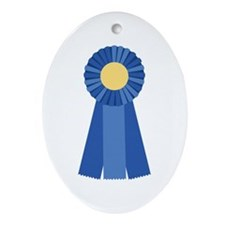 First Place Blue Ribbon Ornament (Oval)