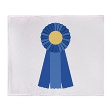 First Place Blue Ribbon Throw Blanket
