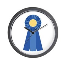 First Place Blue Ribbon Wall Clock