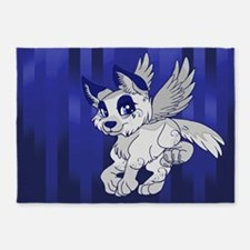 Flying Wolf 5'x7'Area Rug
