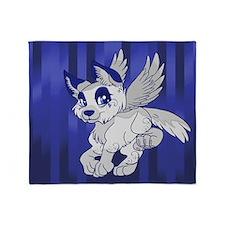 Flying Wolf Throw Blanket