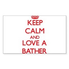 Keep Calm and Love a Bather Decal