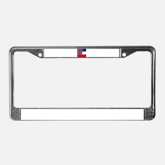 Flag of Mississippi License Plate Frame