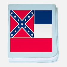 Flag of Mississippi baby blanket