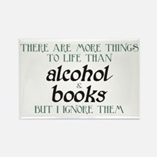 More Things To Life Than Alcohol Books Magnets