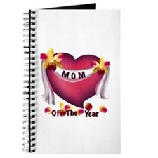 Textured Heart Mom of the Year Journal
