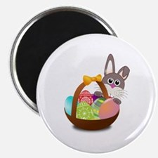 """Bunny Rabbit With Basket Of 2.25"""" Magnet (10 Pack)"""