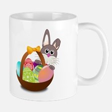 Bunny Rabbit With Basket Of Easter Mug