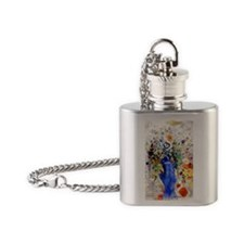 Odilon Redon - Large Bouquet Flask Necklace