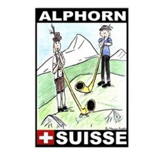 The Alphorn Shop Postcards (Package of 8)