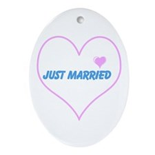 just married Ornament (Oval)