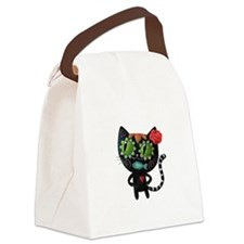 Black Cat of The Dead Canvas Lunch Bag