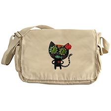 Black Cat of The Dead Messenger Bag