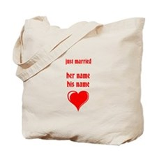 just married- YOUR NAMES Tote Bag