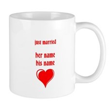 just married- YOUR NAMES Mugs