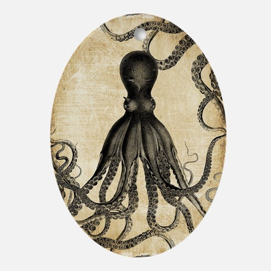 Vintage Octopus Ornament (Oval)