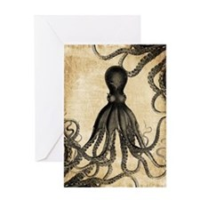 Vintage Octopus Greeting Cards