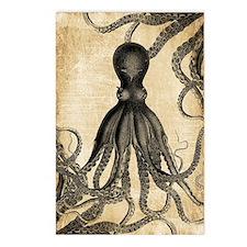 Vintage Octopus Postcards (Package of 8)