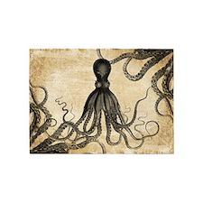 Vintage Octopus 5'x7'Area Rug
