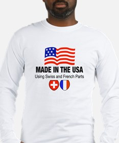 Swiss and French Long Sleeve T-Shirt
