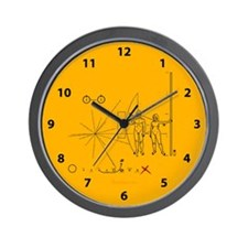 Pioneer Plaque Pluto Fix V4 Wall Clock