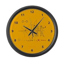 Pioneer Plaque Pluto Fix V3 Large Wall Clock