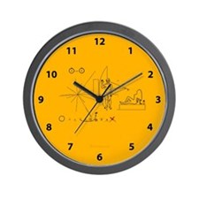Pioneer Plaque V3 Pluto Fix Wall Clock